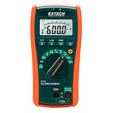 Extech EX363 HVAC Multimeter with Non Contact Voltage Detector  (True RMS, Type-K Temperature)