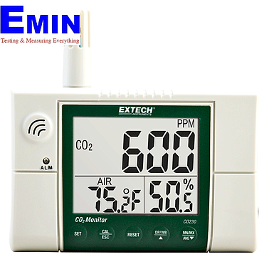 EXTECH CO230 Indoor Air Quality CO2 Monitor (0 to 9,999ppm)