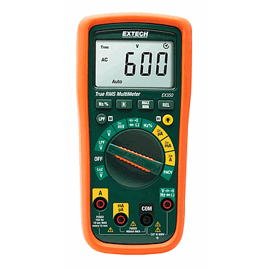 Extech EX350 MultiMeters (Built-in Non-contact AC Voltage Detector )