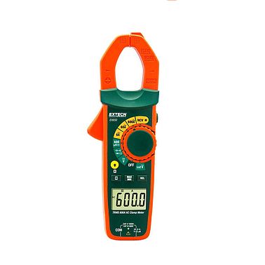 Extech EX655 True RMS AC Clamp Meter + NCV (Non-Contact Voltage Detector and Low Impedance)