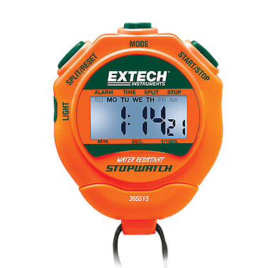 Stopwatch/Clock with Backlit Display Extech 365515