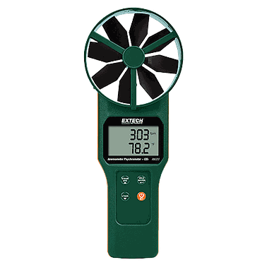 Extech AN320 Large Vane CFM/CMM Thermo-Anemometer, CO2