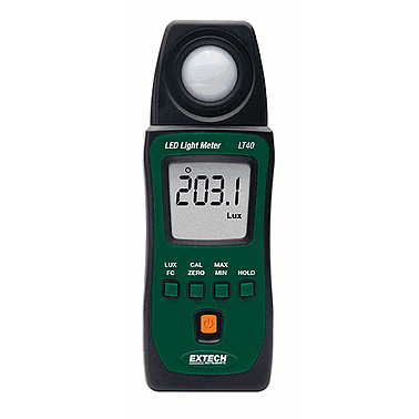Extech LT40 LED Light Meter (400 klux)